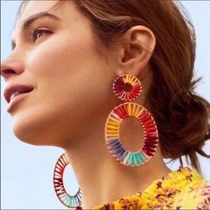 NWOT Anthro BaubleBar Rainbow Rattan Earri…
